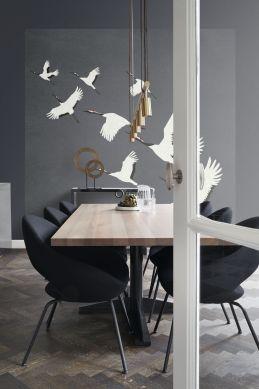 fotomural pájaros grulla gris oscuro