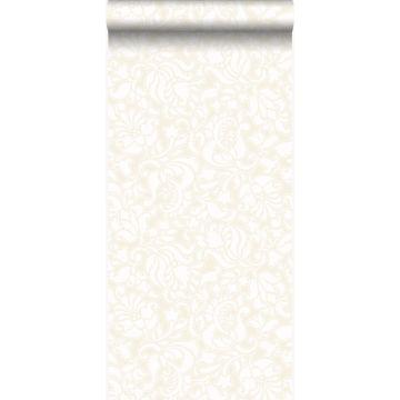 papel pintado encaje blanco