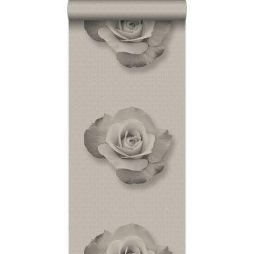 papel pintado rosa gris y negro