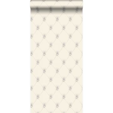 papel pintado capitonado blanco