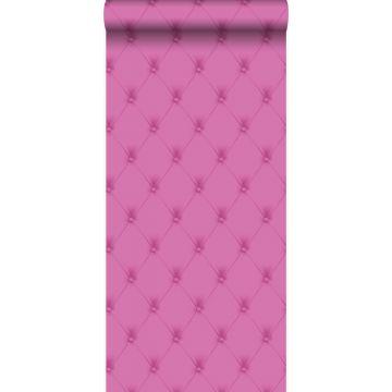 papel pintado capitonado rosa
