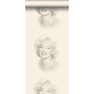 papel pintado Marilyn Monroe blanco y gris