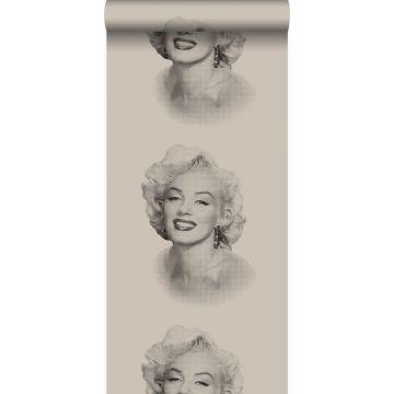 papel pintado Marilyn Monroe gris y negro