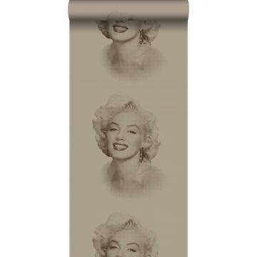 papel pintado Marilyn Monroe bronce brillante