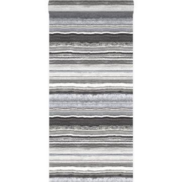 papel pintado piedra de mármol en capas negro y blanco