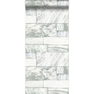 papel pintado piedras de mármol blanquecino