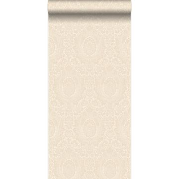 papel pintado adorno blanco antiguo