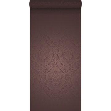 papel pintado adorno morado oscuro