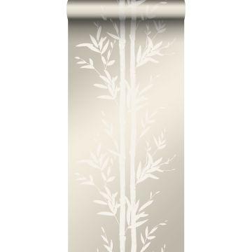 papel pintado bamboo blanquecino