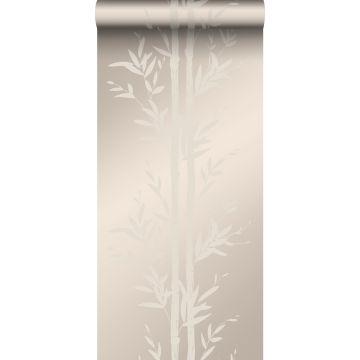 papel pintado bamboo plata cálido