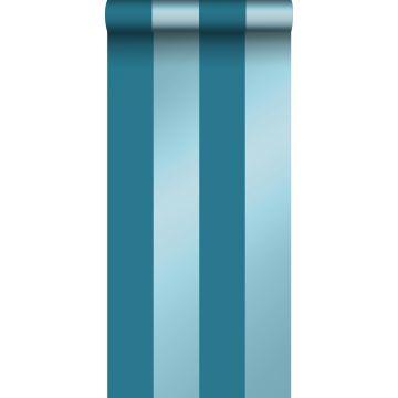 papel pintado rayas azul petroleo