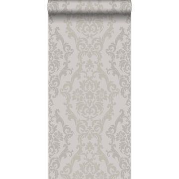papel pintado adorno gris pardo