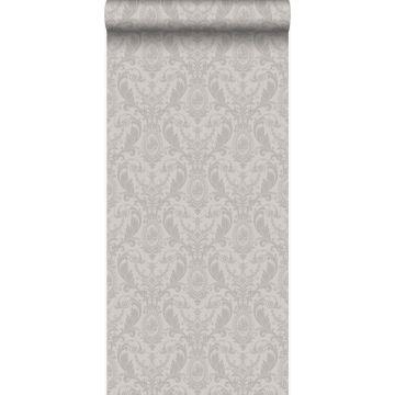 papel pintado adorno gris