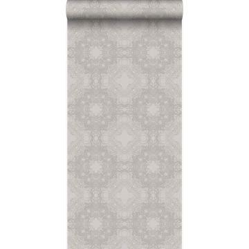 papel pintado forma gráfica gris pardo