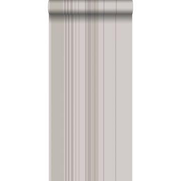 papel pintado rayas gris pardo y gris