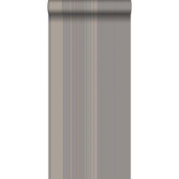 papel pintado rayas gris pardo y bronce brillante