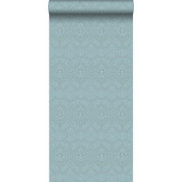 papel pintado adorno azul hielo