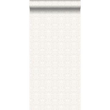 papel pintado adorno blanco y gris claro