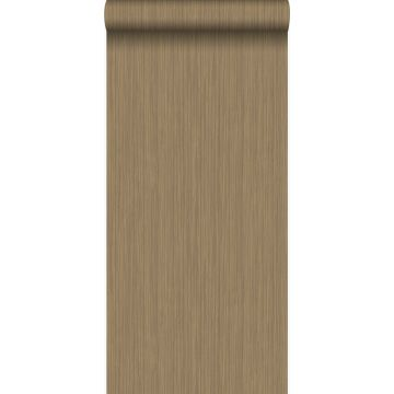 papel pintado raya fina marrón cobre brillante
