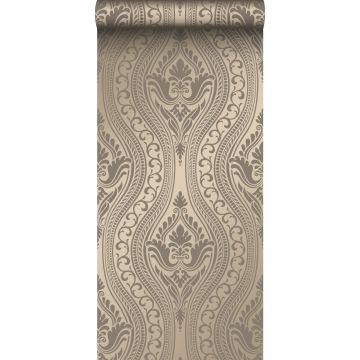 papel pintado adorno bronce brillante