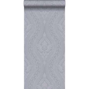 papel pintado adorno morado y gris