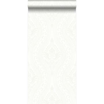 papel pintado adorno blanquecino