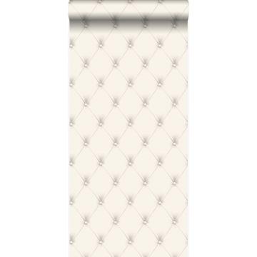 papel pintado capitonado blanco y gris claro