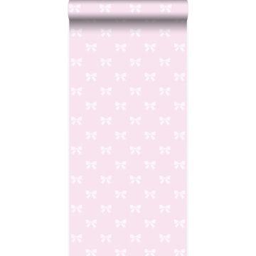 papel pintado pequeños arcos rosa claro