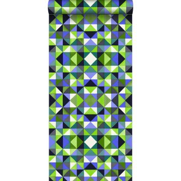 papel pintado cubismo verde