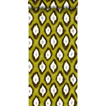 papel pintado ikat amarillo ocre