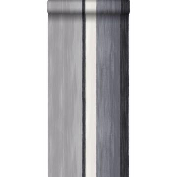 papel pintado rayas negro y gris