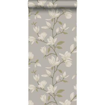 papel pintado magnolia verde
