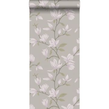 papel pintado magnolia marrón topo claro