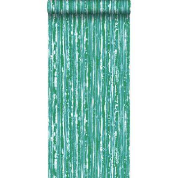 papel pintado rayas verde