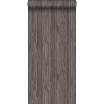 papel pintado rayado gris pardo