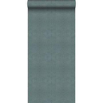 papel pintado piel de animal azul petroleo