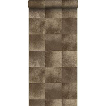papel pintado textura de piel de animal marrón oscuro
