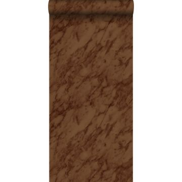 papel pintado marmol marrón herrumbre