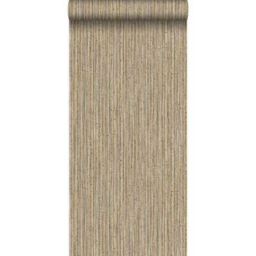 papel pintado bamboo marrón claro