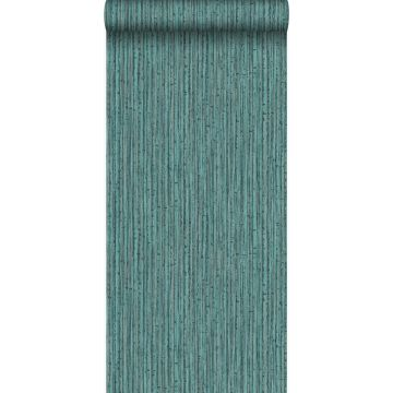 papel pintado bamboo verde mar