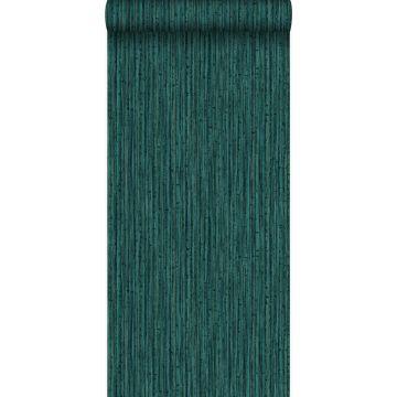 papel pintado bamboo verde esmeralda