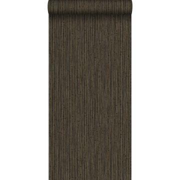 papel pintado bamboo marrón