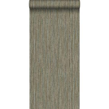 papel pintado bamboo marrón topo oscuro