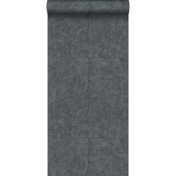 papel pintado piedra gris oscuro