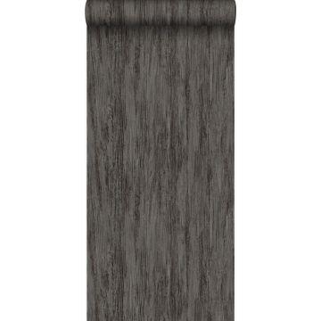 papel pintado madera gris oscuro