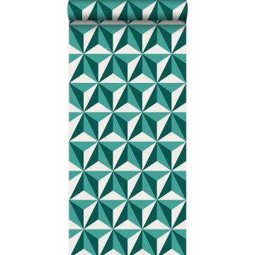papel pintado 3D gráfico verde esmeralda