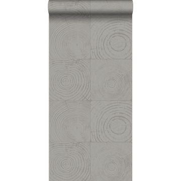 papel pintado cortes de troncos de arboles gris oscuro