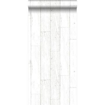 papel pintado tablas de madera de desecho recuperada desgastada resistida vintage blanco marfil