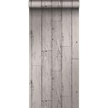 papel pintado tablas de madera de desecho recuperada desgastada resistida vintage gris oscuro