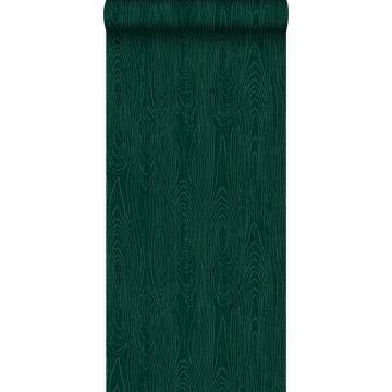 papel pintado tablas de madera con grano de madera verde esmeralda